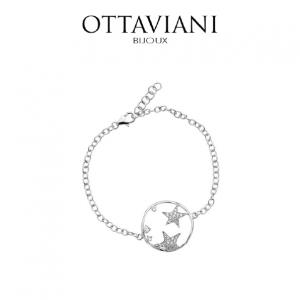 Ottaviani® Pulseira Star Light   Prateado