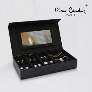Conjunto Pierre Cardin® 6 Pares de Brincos + 2 Colares | Prateado e Dourado | Caixa com Espelho