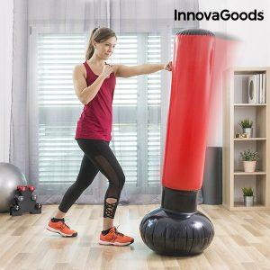 Saco de Boxe de Pé Insuflável InnovaGoods Sport Fitness