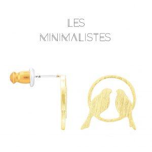 Les Minimalistes® Brincos Jade Gold