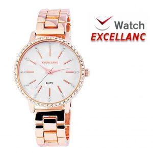 Relógio Excellanc Rose Gold com Brilhantes