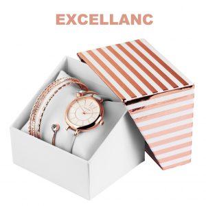 Conjunto com Relógio Excellanc® Circle of Love White | Relógio e 4 Pulseiras