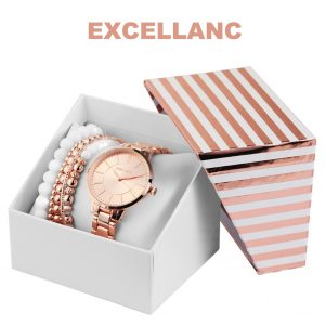 Conjunto com Relógio Excellanc® Pearl Love | Relógio e 5 Pulseiras