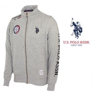 U.S. Polo ® Casaco Cinzento Logo Azul