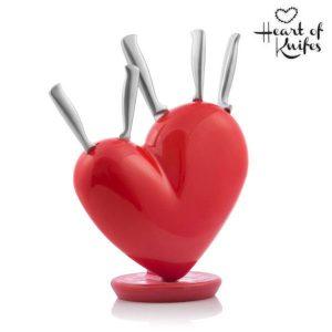 Bloco Para Facas Em Forma de Coração Heart of Knifes