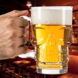 Caneca de Cerveja Caveira