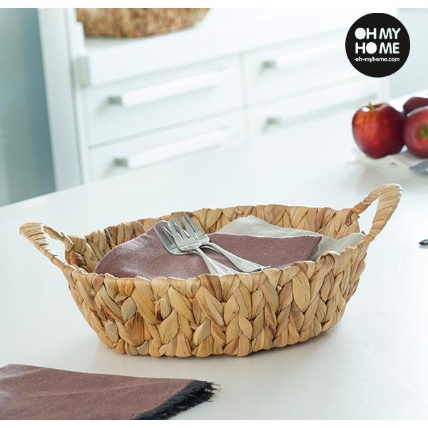 cesta redonda de folha de milho oh my home you like it. Black Bedroom Furniture Sets. Home Design Ideas