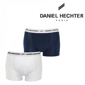 Daniel Hechter Paris®Pack de 2 Boxers | Branco & Azul Marinho