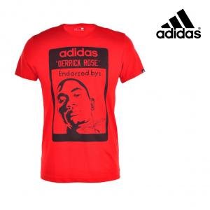Adidas® T-Shirt Derrick Rose Vermelha