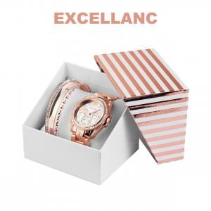 Conjunto com Relógio Excellanc® Rose Set | Relógio e 4 Pulseiras