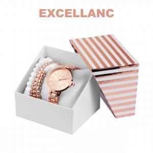 Conjunto com Relógio Excellanc® Pearl Love   Relógio e 5 Pulseiras