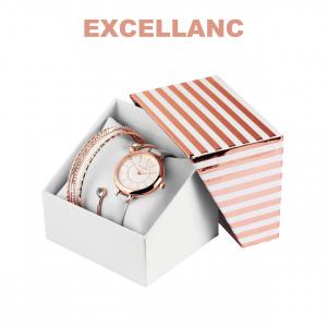 Conjunto com Relógio Excellanc® Circle of Love White   Relógio e 4 Pulseiras