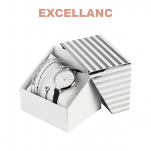 Conjunto com Relógio Excellanc® Circle of Love Black   Relógio e 4 Pulseiras