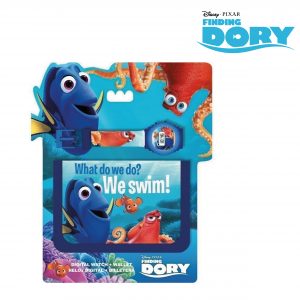 Dory | Conjunto Carteira e Relógio Digital | Produto Licenciado