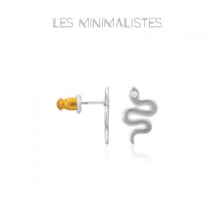 Les Minimalistes® Brincos Snake Silver