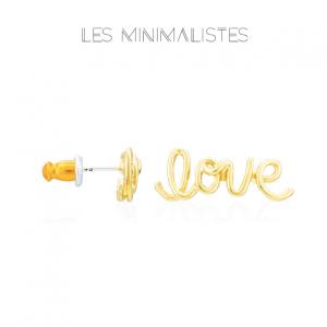 Les Minimalistes® Brincos Love Gold
