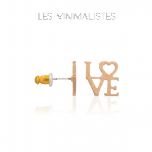 Les Minimalistes® Brincos Love Rose Gold