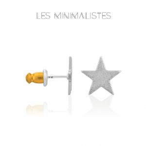 Les Minimalistes® Brincos Jude Silver