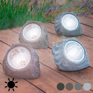 Pedra Artificial Solar | 4 LED