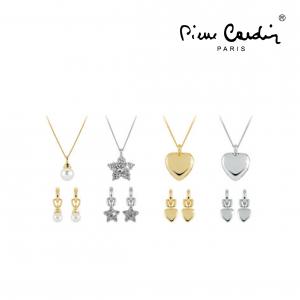 Conjunto Pierre Cardin® Conjunto 4 Colares + 8 Brincos | Prateado e Dourado