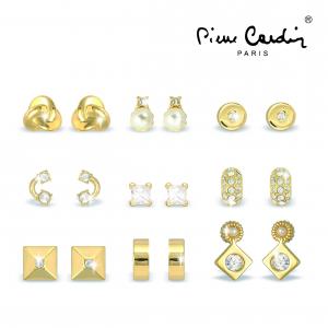 Conjunto Pierre Cardin® 9 Pares Brincos Dourado
