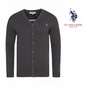 U.S. Polo Assn Mesh Gris Logo Orange