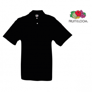 Preço Especial - Fruit Of The Loom® Polo Preto