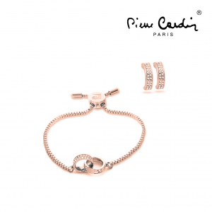 conjunto Pierre Cardin® Pulseira & Brincos
