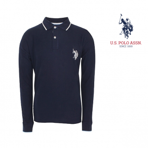 U.S. Polo ® Azul Logo Cinzento