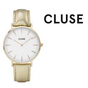 Relógio Cluse® La Bohème White/Gold Metallic | 38MM