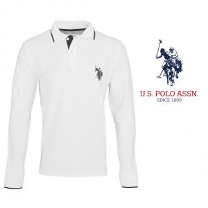 U.S. Polo ® Branco Logo Azul
