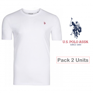 U.S. Polo ® Pack 2 T-Shirts Brancas