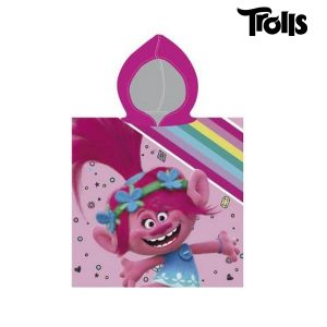 Poncho-Towel with Hood Trolls | Licensed Product