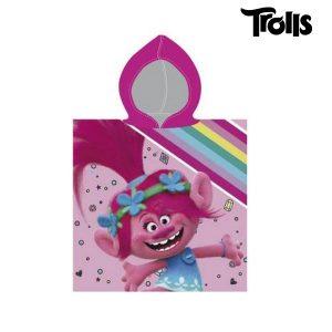 Poncho-Toalha com Capuz Trolls | Produto Licenciado