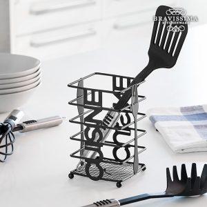 Porta-Talheres de Metal Cuisine Bravissima Kitchen