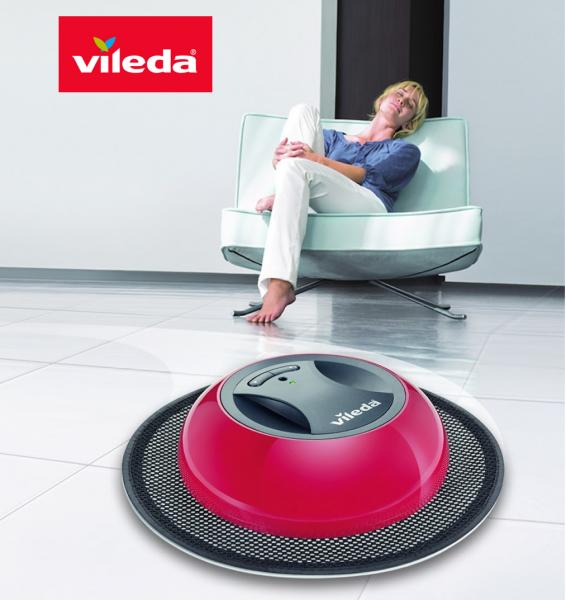 Robot de nettoyage virobi vileda you like it for Nettoyer un carrelage neuf