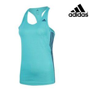 Adidas® Caveada Basic 3 Stripes Tank Green | Tecnologia Climalite®