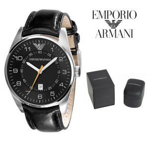 Relógio Emporio Armani® Classic Quartz Black Dial