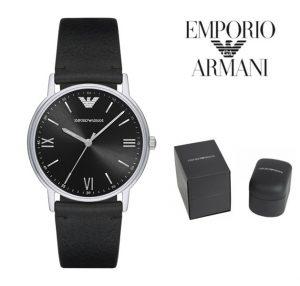 Relógio Emporio Armani® Black Dial Leather