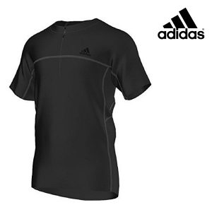 Adidas® T-Shirt Outdoor Black Zip | Tecnologia 37.5®