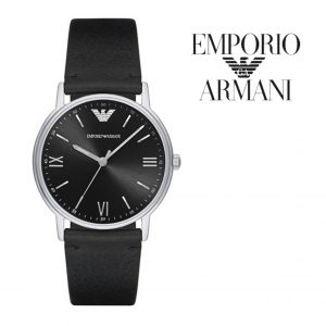Relógio Emporio Armani® Black Dial Leather