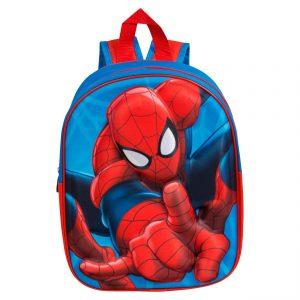 Mochila Escolar 3D Spiderman 32cm | Produto Licenciado