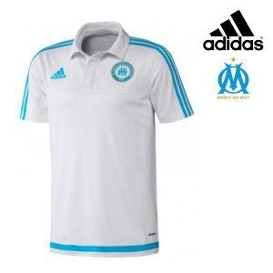 Adidas® Polo Oficial Olympique de Marselha Branco | Tecnologia Climalite®