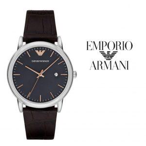Relógio Emporio Armani® Luigi Grey Dial Dark Brown