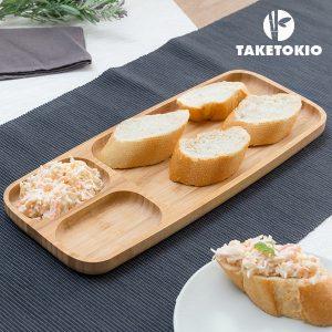 Bandeja de Bambu Com Compartimentos TakeTokio