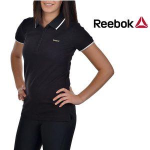 Reebok® Polo Woman´s Preto | 100% Algodão