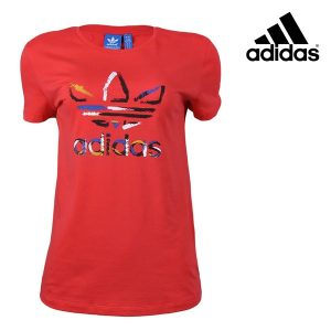 Adidas® T-Shirt Originals Trefoil Woman Red