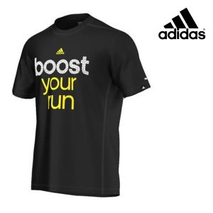 Adidas® T-Shirt Boost U Run Black | Tecnologia Climalite®