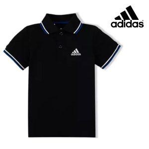 Adidas® Polo Essential Black Junior | Tecnologia Climalite®