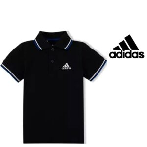 Adidas® Polo Essential Black Junior | Tecnologia Climalite®